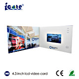 """최신 판매 4.3 """" LCD 스크린 영상 브로셔"""