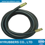 Única mangueira R6 de borracha hidráulica do SAE 100 da trança da fibra