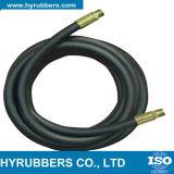 Boyau R6 en caoutchouc hydraulique simple de la tresse SAE 100 de fibre