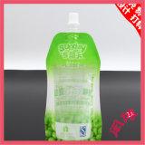 薄板にされた物質的なプラスチック再使用可能立てる飲料水の口の袋袋をカスタム設計しなさい