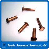 ステンレス鋼の真鍮の固体リベットDIN7337のアルミニウムブラインドの破裂音のリベット