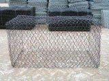 Caixa revestida de Gabion do fio do zinco