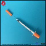 Jeringuilla disponible 1ml 0.5ml de la insulina con la aguja fija