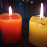 candela bianca della colonna della cera paraffinica di fragranza 7.5X7.5