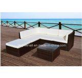 PE Rattan moderna al aire libre Patio de ocio sofá al aire libre