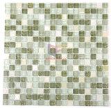 신선한 색깔 목욕탕에 의하여 사용되는 돌 유리제 모자이크 타일 (CS112)