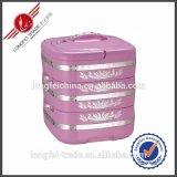 3 van het Roestvrij staal lagen van de Container van het Voedsel/de Plastic Container van het Verwarmingstoestel van het Voedsel