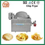 Galinha fritada da microplaqueta do aquecimento de gás frigideira industrial que frita a máquina