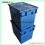 90L Caja grande con el skate de plástico encajables moviendo la caja de PP
