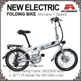 Сплава 7 велосипеда с электроприводом складывания скорости в сложенном виде E-велосипед