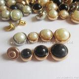 DIYの半円の合金の固体真珠の釘の靴の服装は装飾的なアクセサリをリベットで留める
