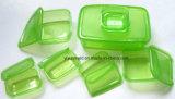 Benna trasparente di plastica personalizzata del contenitore con i coperchi