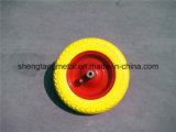 Wheelbarrow resistente da construção com a roda da espuma do plutônio