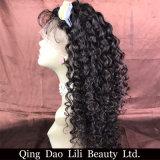 Perucas brasileiras do cabelo humano do vison real para mulheres pretas, peruca barato brasileira da parte dianteira do laço do cabelo humano da venda por atacado