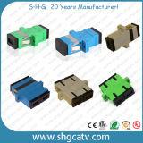 Sc FC LC St Mu MTRJ Adaptador de fibra óptica