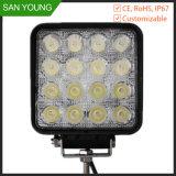 Lampe carrée 48W à LED hors route