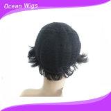 Brasiliano poco costoso Virgin Remy Human Hair Machine Made Wigs di Wholesale Short Style Unprocessed 100 per le donne di colore (HW-077)