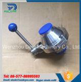 Borboleta sanitária do aço inoxidável - datilografar a válvula de esfera da solda