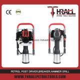 Manual de gasolina valla montón de mano del controlador de vibración del guardarraíl Hincapostes