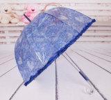 Guarda-chuva de dobramento do manual do artigo do presente da borda do laço mini 5 abertos relativos à promoção encantadores Foldable