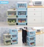 Récipient d'entreposage de boîte en plastique de jouet de ménage avec la couverture de taille