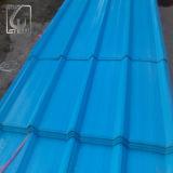 Feuille ondulée colorée enduite d'une première couche de peinture de toiture pour la Tanzanie