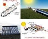 O tubo de depressão do tubo de calor de cobre coletor solar