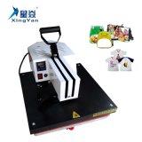 Máquina plana de la prensa del calor de Corea, tipo manual máquina de la sublimación para la camiseta, rompecabezas, pizarra, bolsos de escuela, almohadilla, anillo dominante etc