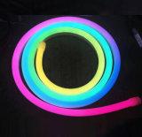 Lumière de bande au néon Cuttable du câble DEL d'extrusion accessible programmable de silicones de SMD 5050 12V 24V