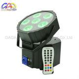 6pzas 12W de alto brillo 6 en 1 batería plana inalámbrico par iluminación de escenarios