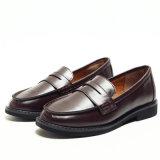 Nuevo diseño de cabeza redonda plana Dama zapatos de ocio