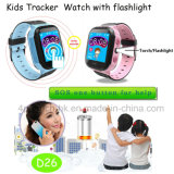 """1.44 """" 아이 아이를 위한 플래쉬 등을%s 가진 접촉 스크린 GPS 추적자 시계"""