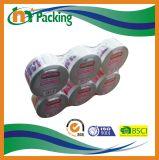 工場価格はロゴによって印刷されるBOPPのパッキングテープをカスタマイズする