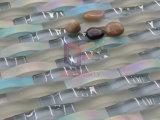 カーブの形のクリスタルグラスのモザイク・タイル(CFG11)