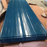 Palmo largo galvanizada o de Aluzinc del material para techos de la hoja prepintado cubrir la hoja
