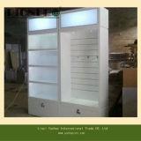 Soporte de pantalla de madera con caja de luz LED