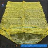 45*75パッキングポテトのための黄色いPEのRaschel袋