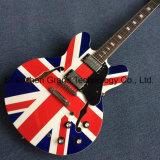 영국 깃발 (TJ-295)를 가진 빈 바디 재즈 일렉트릭 기타