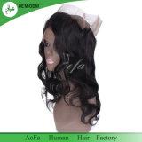 Lâche en soie naturelle des cheveux humains malaisien d'onde 360 frontale