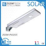 L'alta qualità facile installa l'indicatore luminoso di via solare integrato 15W