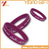 Wristband del silicone su ordinazione più poco costoso con stampa di Cmyk (YB-LY-WR-04)