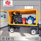 Installation de pompe à eau diesel avec des pipes d'UPVC