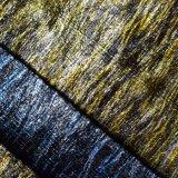 열 금 각인 부대 단화를 위한 인공 가죽 직물을 청동색으로 만들기