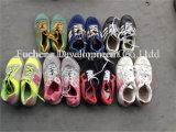 Preiswerter Mann u. zweite Handauf lagerschuhe der Dame-Used Sandals für Afrikaner (FCD-005)