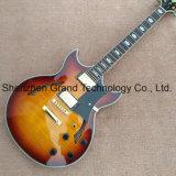 Haut de l'érable d'éclatement de Jazz de corps creux, guitare électrique (TJ-321)