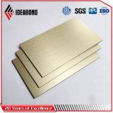 Почищенная щеткой алюминиевая составная панель панели PVDF алюминиевая составная