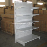 Atacado Punch Holes Back Metal Gondola Supermercado Prateleiras Display Racks