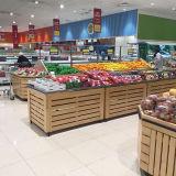 Деревянный стеллаж для выставки товаров Vegetable хранения плодоовощ для супермаркета
