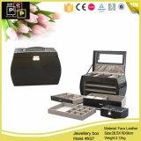 Pattern di pietra Large Luxury Jewelry Box con Three Drawers (8027)