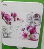 Depósito de agua de baño de plástico de la impresión de flores